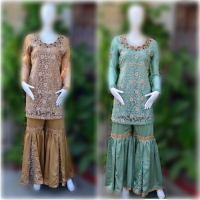 Elegant Gharara Suit 3 Colours