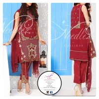 NEEDLEZ CHIFFON FULLY STITCHED SUITS