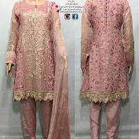 Kiran's Signature Pakistani suit NuPink