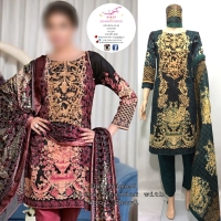 DESIGNER 3 PC KHADDAR SUITS WITH WOOL SHAWL