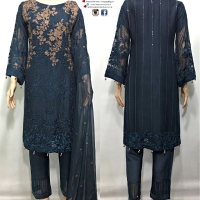 Signature Luxury Embroidered 3 PC SUIT