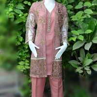 TEA PINK 4 PC LUXURY SUIT