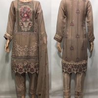Pure Luxury Chiffon Embroidered suit