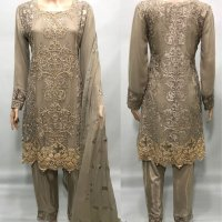 Fully Embroidered Chiffon 3 PC Suit