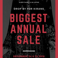 BIGGEST ANNUAL SALE 2018
