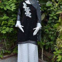 Black &White Palazzo Party wear