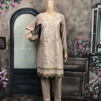 Linen Embroidered 3 pc suits