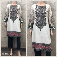 Cotton Embroidered 3 pc suit