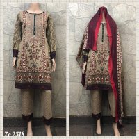 Cotton Embroidered 3 pc