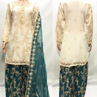 Beautiful Embroidered Palazzo 3 pc suit