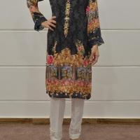 SILK DIGITAL PRINT KURTAS WITH HAND WORK DETAIL