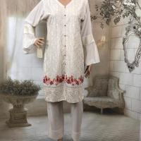 3PC LINEN EMBROIDERED SUITS
