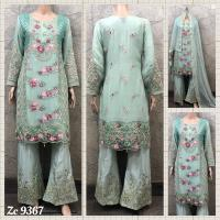 CHIFFON EMBROIDERED SUITS ( PLUS SIZES ONLY)